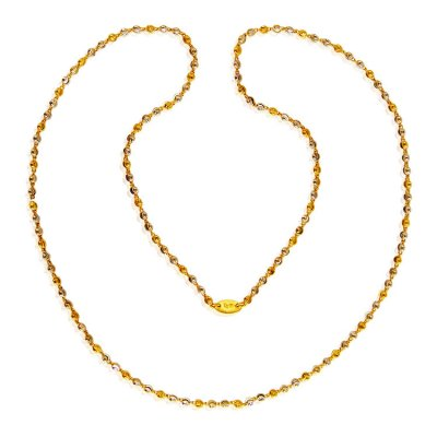 Two Tone 22 Karat Gold Chain ( 22Kt Long Chains (Ladies) )