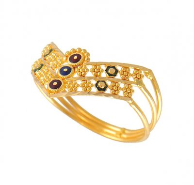 Gold Ladies Filigree Ring ( Ladies Gold Ring )