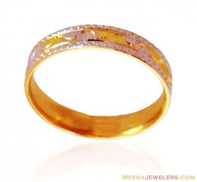 22K Gold Band in Two Tone ( Wedding Bands )
