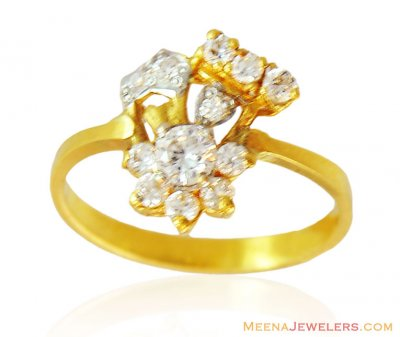 22k Fancy Signity Stones Ring ( Ladies Signity Rings )