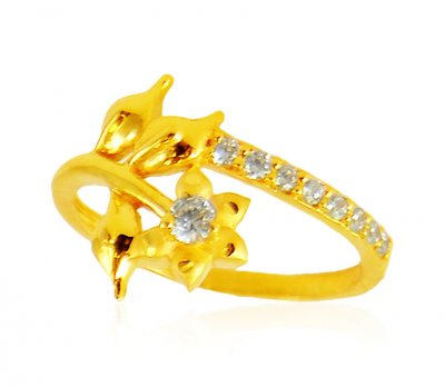 22K Gold Star Signity Ring ( Ladies Signity Rings )