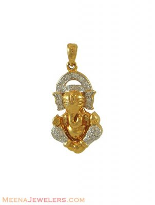 Lord Ganesh Pendant (Diamonds studded) ( Diamond Pendants )