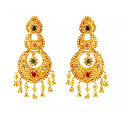 22Kt Gold Chand bali ( Exquisite Earrings )