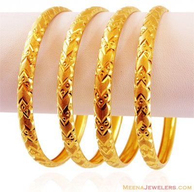Machine Bangles Set 22k ( Set of Bangles )