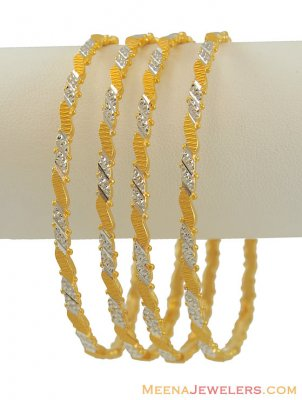 Two Tone Indian Bangles Set ( Two Tone Bangles )