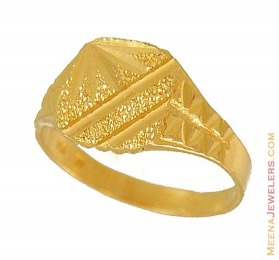 22kt Mens Fancy Ring ( Mens Gold Ring )