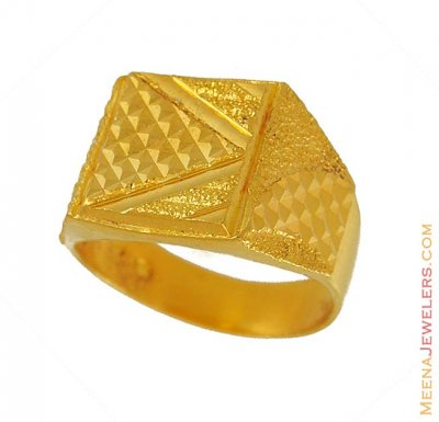 Exquisite Mens Ring (22kt) ( Mens Gold Ring )