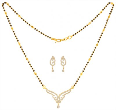 18KT Gold Diamond Mangalsutra Set ( Diamond MangalSutras )