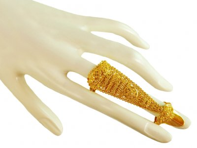 22K Gold Exquisite Long Ring ( Ladies Gold Ring )