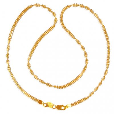 22K Gold  Spiral Chain ( Plain Gold Chains )