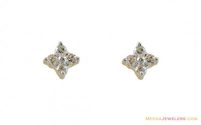 18k Gold Diamond Earrings  ( Diamond Earrings )