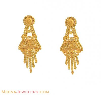Indian Earrings (22K Gold) ( Long Earrings )