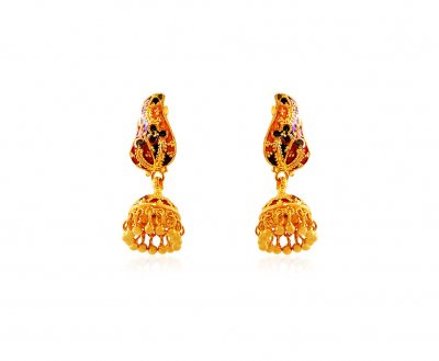 Fancy Meenakari Earrings (22K) ( 22Kt Gold Fancy Earrings )