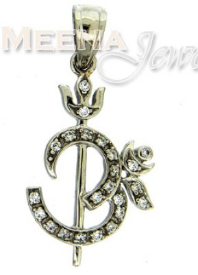 18 Kt White Gold Pendant ( Om Pendants )