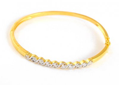 Two Tone Signity Bangle ( Stone Bangles )