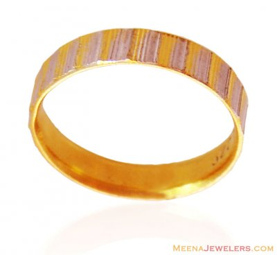 22K Gold Two Tone Band ( Wedding Bands )