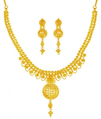 22K Gold Necklace Set ( 22 Kt Gold Sets )