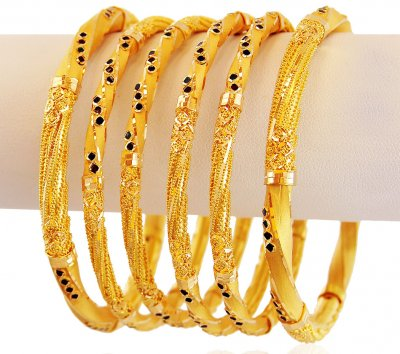 Meenakari 22K Gold Bangles Set ( Set of Bangles )