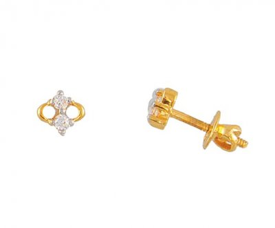 Signity Gold Earrings ( Signity Earrings )