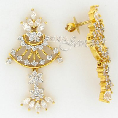 22 Kt Gold Signity Earrings ( Exquisite Earrings )
