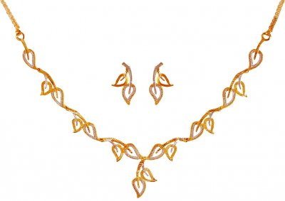 22Karat Gold Light Necklace Set  ( Light Sets )