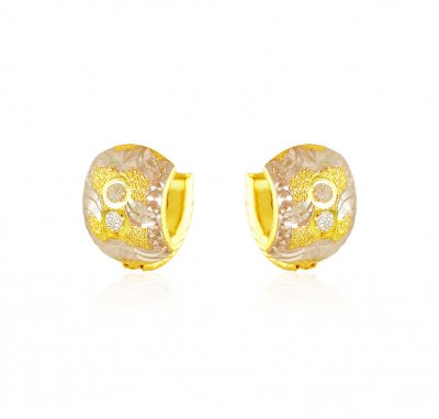 22k Gold Rhodium Finish Clip Ons ( Clip On Earrings )