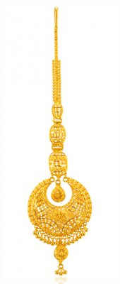 22KT Gold Filigree Mang Tikka ( Gold Tikka )