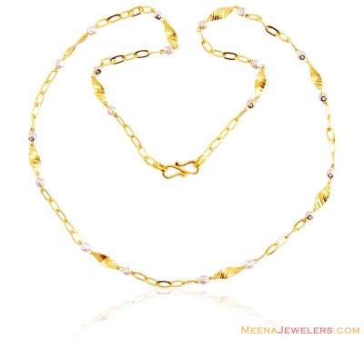 22k Fancy Light Weight Gold Chain ( 22Kt Gold Fancy Chains )