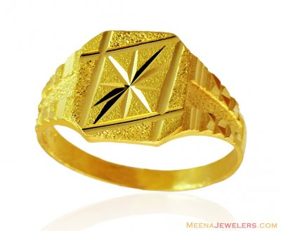 22k Mens Gold Ring ( Mens Gold Ring )