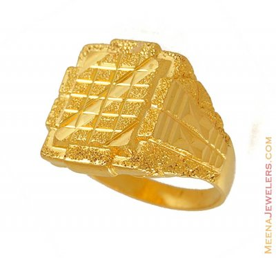 Exquisite Mens Ring (22k Gold) ( Mens Gold Ring )