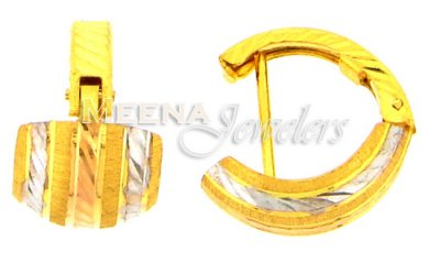 22 Kt Gold Clip On Earrings ( Clip On Earrings )