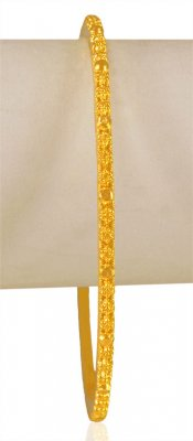 22kt Gold Filigree Bangle (1 Pc) ( Gold Bangles )