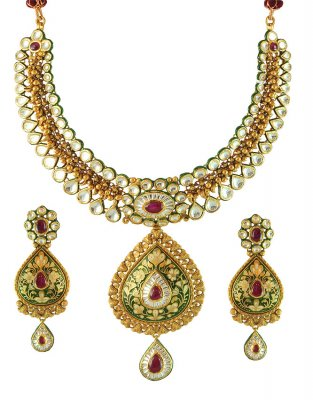 22K Gold Bridal Necklace Set ( Bridal Necklace Sets )