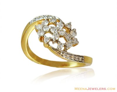 Yellow Gold 18K Fancy Diamond Ring  ( Diamond Rings )