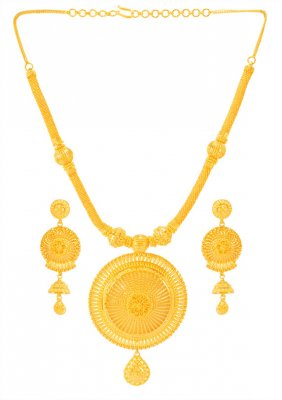 22kt Gold Designer Necklace Set ( 22 Kt Gold Sets )