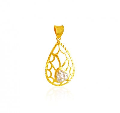 22K Gold Two Tone Pendant ( Fancy Pendants )