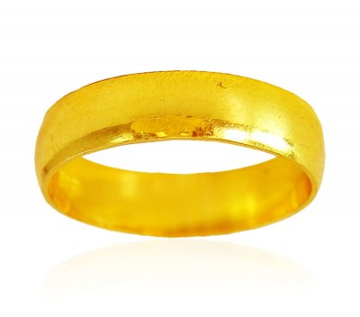 22 Karat Gold Plain Band  ( Wedding Bands )