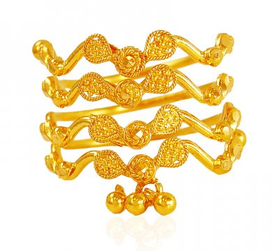 Spiral Ring 22 Kt Gold ( Ladies Gold Ring )