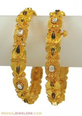 Indian Kundan Bangles (22 Karat) ( Antique Bangles )