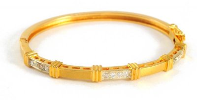 Gold 2 Tone Bangles with Stones ( Stone Bangles )