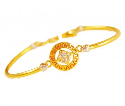 22k Gold OM Bracelet ( Ladies Bracelets )