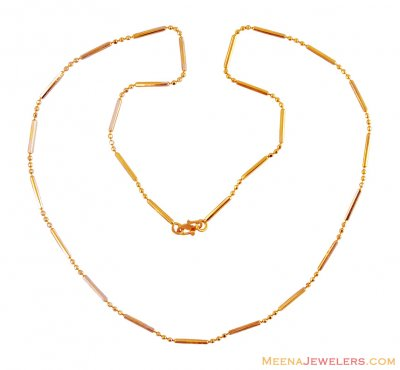 Fancy 22k Gold Chain (18 Inch) ( Plain Gold Chains )