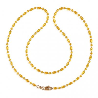 22k 2 Tone Rice Balls Chain  ( 22Kt Gold Fancy Chains )