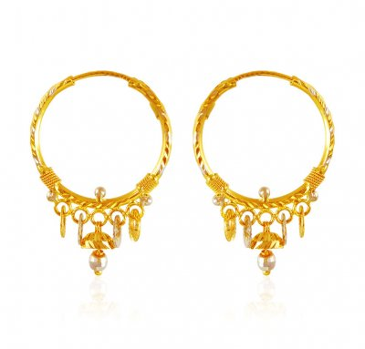 22k Gold Hoops  ( Hoop Earrings )