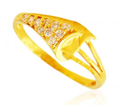 Fancy 22k Gold Ring ( Ladies Signity Rings )