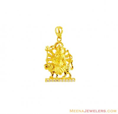 22kt Gold Amba Ma Pendant ( Ganesh, Laxmi and other God Pendants )