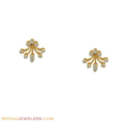 Diamond Earrings (18k Gold) ( Diamond Earrings )