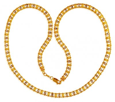 22k Gold  Balls  Chain ( 22Kt Gold Fancy Chains )