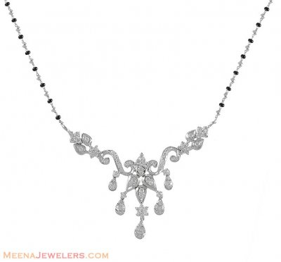 18K Designer Mangalsutra with Genuine Diamonds ( Diamond MangalSutras )