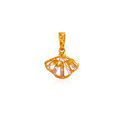 22K Gold Reversible Pendant ( Fancy Pendants )